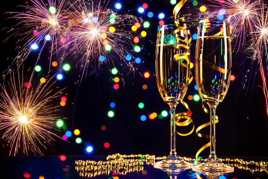 New Year Eve Veille Jour de l'an Étiquette Baiser Bulles Julie Blais Comeau