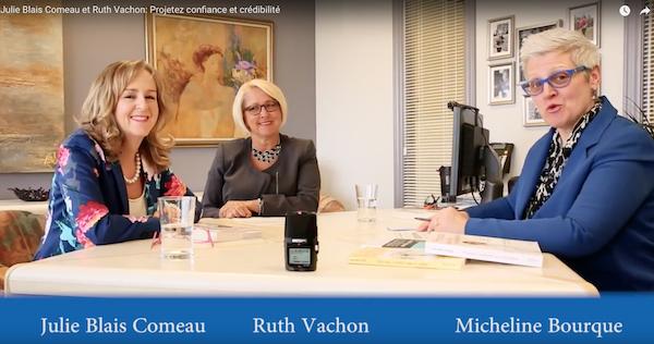 Club lecture affaires, Projetez confiance et crédibilité, étiquette, Julie Blais Comeau, Micheline Bourque, Ruth Vachon, RFAQ