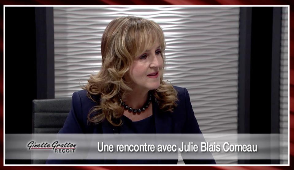Ginette Gratton reçoit Julie Blais Comeau livre Projetez confiance et crédibilité