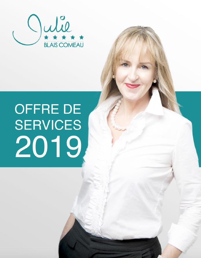 Julie Blais Comeau Étiquette Offre de services