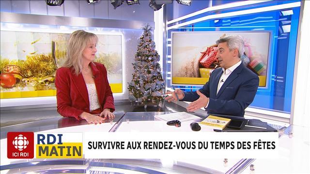 Survivre Temps des fêtes RDI Matin Julie Blais Comeau étiquette