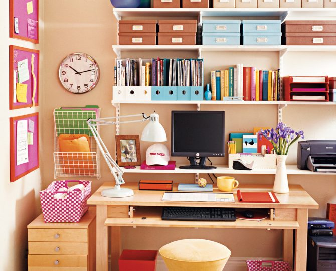 Organized office Julie Blais Comeau etiquette