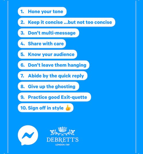 Messaging Etiquette Debretts Messenger by Facebook Julie Blais Comeau