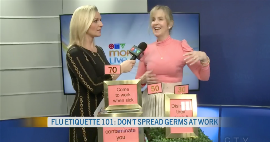 Flu virus etiquette Julie Blais Comeau CTV Morning Live Ottawa