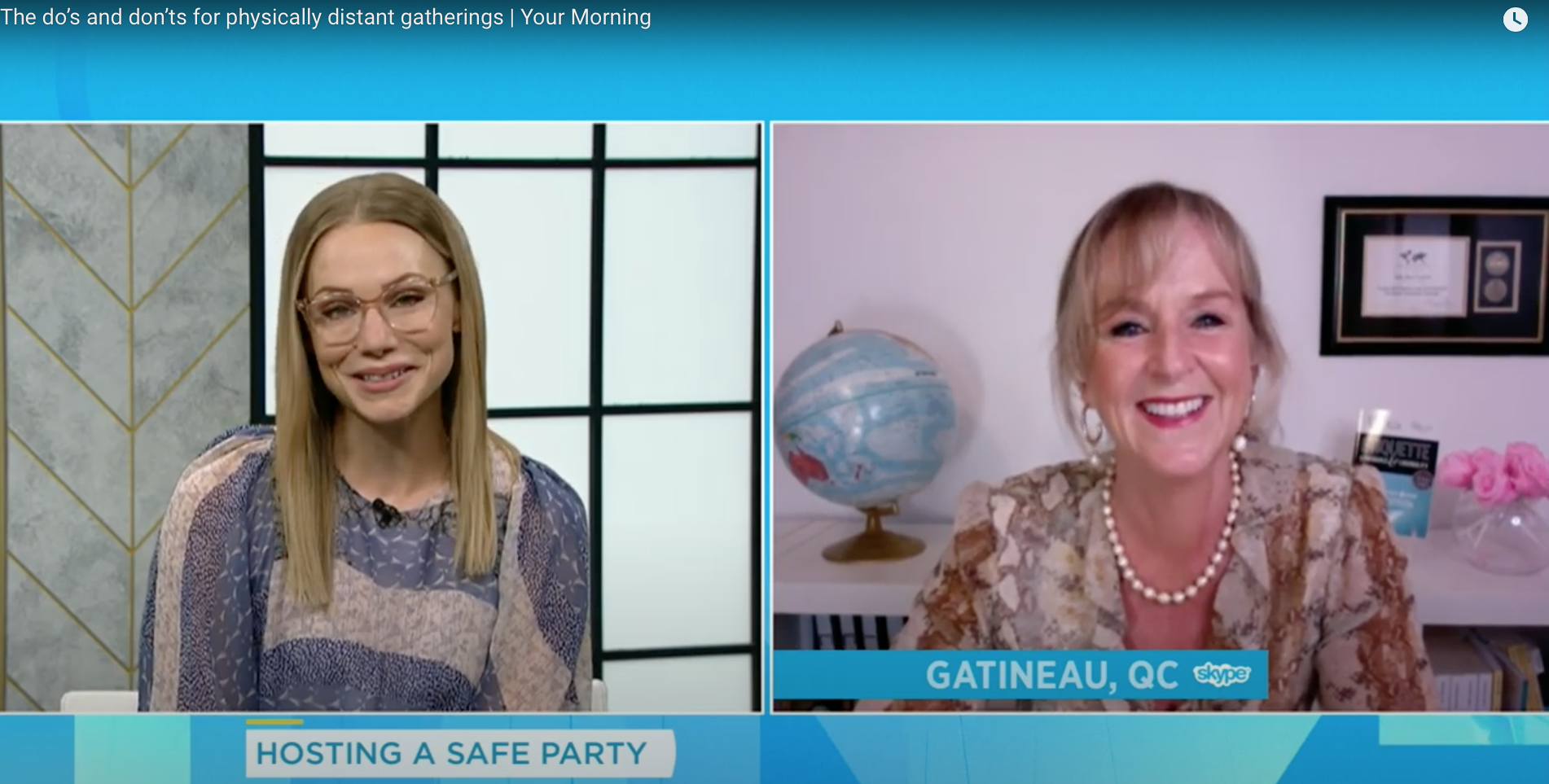 etiquette julie Blais Comeau Pandemic Party Kelsey McEwen CTV Your Morning