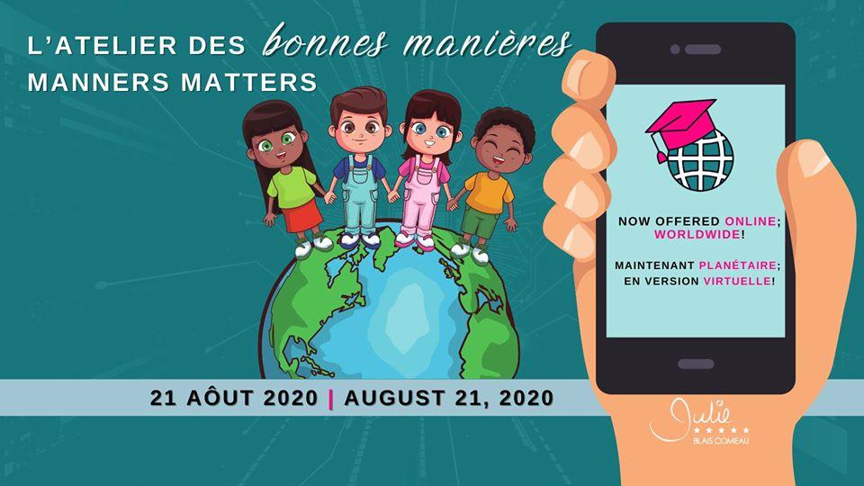 Manners Matter Etiquette Children julie Blais Comeau workshop atelier bonnes manières